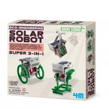 Soldrevet Robot 3-i-1  | Byg selv