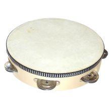 Tamburin med skind - Ø20 cm.