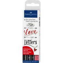 Hand Lettering, Pitt artist pen, 4 stk