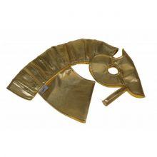 Kæphest tilbehør - Rustning til hest, guld