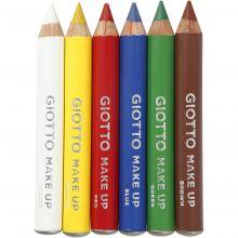 Ansigtsfarve - Sminkeblyanter, Basisfarver 6 stk