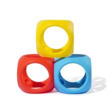 Babybold i silikone - Basisfarver, 3 stk.