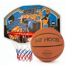 Basketballkurv på plade - Inkl. bold