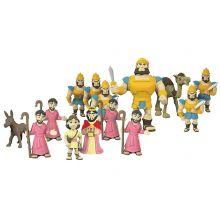 Bibelsk figursæt - David & Goliat, 16 dele