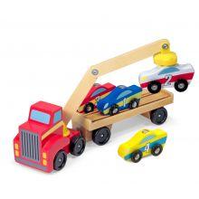 Biltransporter - Magnetisk m. 4 biler