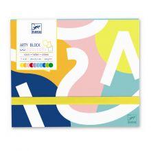 Mappe med farvet papir, 30 ark
