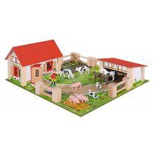 Bondegård med dyr og tilbehør, 21 dele