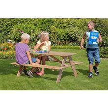 Bord- og bænkesæt til børn i lærketræ