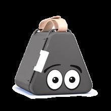 Teebee opbevaringsboks inkl. tegnegrej - Grå