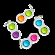Dimpl - Boblepanel nøglering (ass. farver) 1 stk.