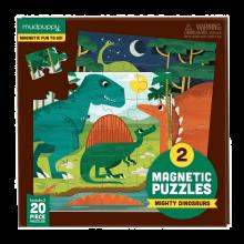 Magnetisk puslespil - Dinosaur, 2 x 20 brikker