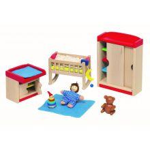 Dukkehus tilbehør - Babyværelse, klassisk