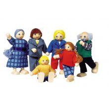 Dukkehus - Dukkefamilie, inkl. bedsteforældre