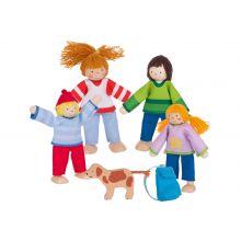 Dukkehus - Dukkefamilie inkl. hund