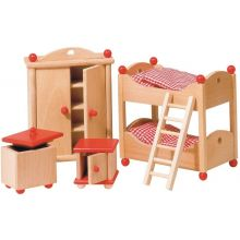 Dukkehus tilbehør - Børneværelse, klassisk