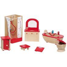 Dukkehus tilbehør - Badeværelse, klassisk