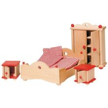 Dukkehus tilbehør - Soveværelse, klassisk