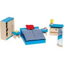 Dukkehus tilbehør - Soveværelse, moderne