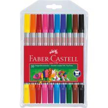 Faber Castell Tusser dobbelt 10 stk.