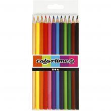 Farveblyanter - Ass. farver, 12 stk
