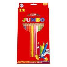 Farveblyanter Jumbo 12 stk.