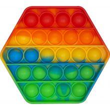 Fidget Pop It - Ottekantet / Regnbue, 1 stk