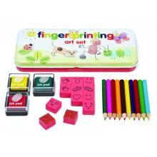 Fingeraftryks-kreasæt m. stempler