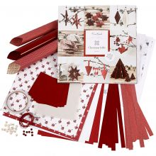 Flette- og foldesæt - Rød