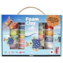Foam Clay i gaveæske, 28 bøtter + værktøj
