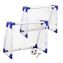 Fodboldmål Junior 2 stk. - 110 x 90 x 60 cm.