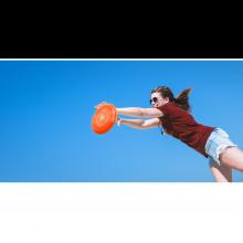Frisbee Ø26,5 cm. (ass. farver), 1 stk.