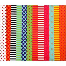 Glanspapir - Mønstret, 50 ark