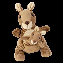 Hånd- & fingerdukke - Kængurumor med unge