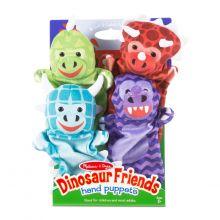 Hånddukker - Dinosaurer, 4 stk.