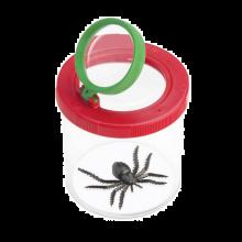 Insektglas med dobbelt forstørrelsesglas