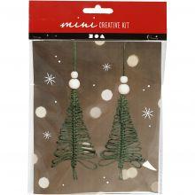 Julepose - Macramé juletræer