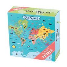 KÆMPE puslespil - Vores verden, 25 brikker