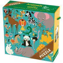 KÆMPE puslespil - Verdens dyr, 25 brikker