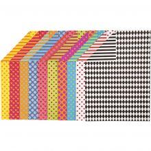 Karton A4 - Mønstre, 20 ass. ark