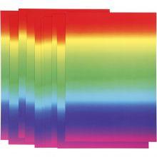 Karton A4 - Regnbuefarver, 10 ark