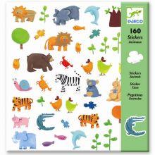 Klistermærker - Alverdens dyr, 160 stk.