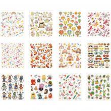 Klistermærker - Diverse, 12 ark