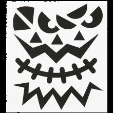 Klistermærker - Halloween ansigter, 1 ark