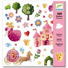 Klistermærker - Prinsesseliv, 160 stk.