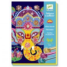 Kreativ æske - Glitterkort, Dyr