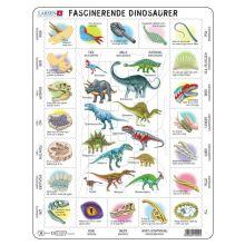 Larsen puslespil - Lær om dinosaurer, 35 brikker
