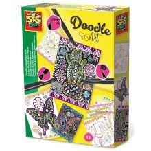 Lav dine egne Doodle-kort, 12 stk.