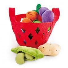 Legemad i plys - Grøntsager