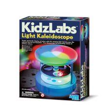 Lav et kalejdoskop med lys