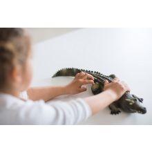 Krokodille i naturgummi